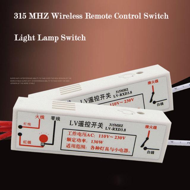 Conmutador inalámbrico de casa inteligente, 315 mhz interruptor wifi, tipo de aprendizaje interruptor de control remoto de pared de luz de trabajo con broadlink rm2 pro