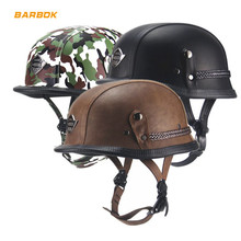 Camouflage PU Leather Layer Motorcycle Helmets 56-61cm Inner Foam Lining Camping Electric Scooter Bicycle Snowboard Sports Hats