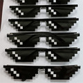 Tratar Con Él Gafas Hombre Mujer Negro 8-Bit Píxeles Gafas de Sol Hombres Mujeres gafas de Sol Retro Nerd thug life en gafas de sol