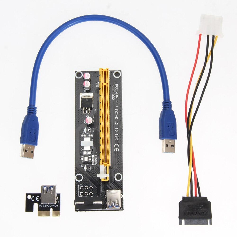 50pcs/lot NGFF M.2 to PCI-e 4x Slot Riser Cards + 150pcs/lot USB 3.0 PCI-E Express 1x To 16x Extender Riser Card Adapter Card