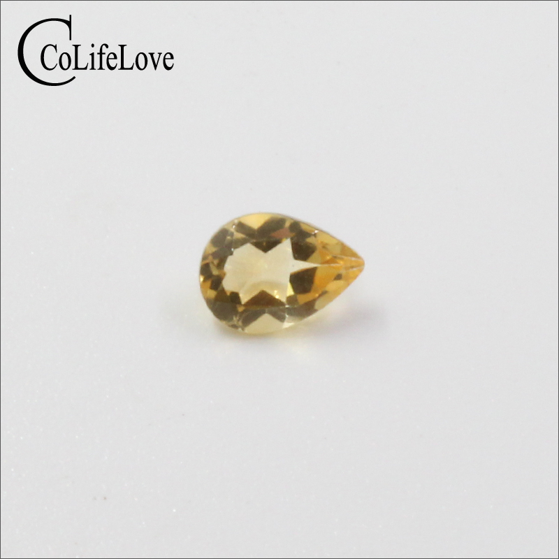 5mm*7mm 100% natural pear cut citrine loose gemstone for jewelry DIY