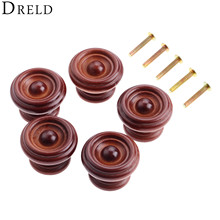 5Pcs Wooden Cabinet Knobs Wood Furniture Handles Kitchen Drawer Cabinet Knobs and Handles Cupboard Door Pulls Furniture Hardware 5pcs cabinet handles aluminum kitchen cupboard pulls drawer knobs furniture bedroom door long handle hardware 23 03 39 37