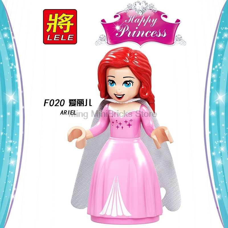 Cuento de hadas princesa chica maléfica construcción muñeca figuras bloques chico amigos niños juguetes compatibles bloqueo amigos