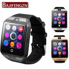 Q18 Reloj Bluetooth Inteligente Reloj Deportivo Podómetro Con SIM Cámara Smartwatch Para Android Smartphone de Rusia hora PK GT08 DZ09