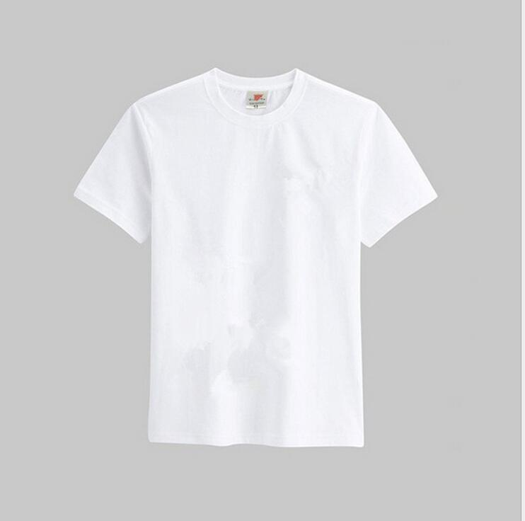 children blank white cotton t shirt short sleeve hand draw