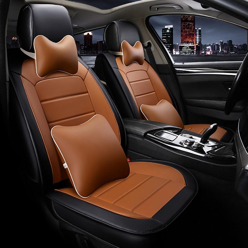 Wenbinge housses de siège de voiture en cuir pour seat ibiza leon 2 fr altea ateca accessoires de voiture protection de siège de voiture style de voiture