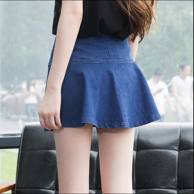 2019 spring and summer new Fashion casual sexy female women girls jeans Denim Divided skirts clothing clothes