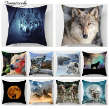 Fuwatacchi  Animal 3D Wolf Print Cushion Cover Moon Dog Tiger Mountain Pillowcase Sofa Home car Decor throw pillows