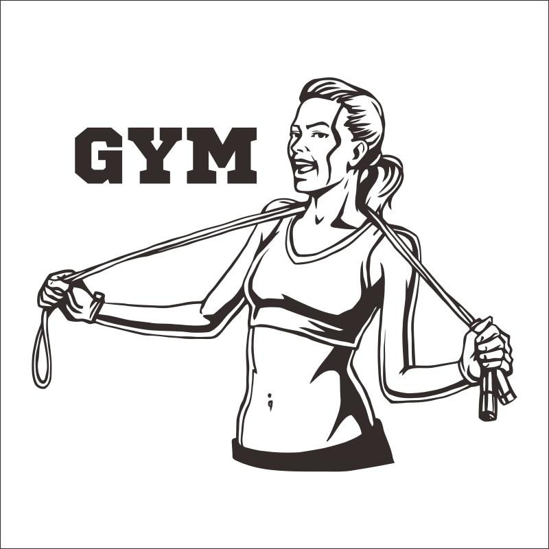 Gimnasio etiqueta coche GymSticker Ironmen Fitness cadena de hierro Crossfit pesa etiqueta cuerpo carteles decalque de pared