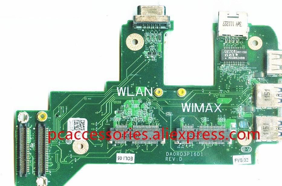 For Dell inspiron N7110 17R Vostro 3750 0NVJ4 CY4GM USB Board Ethernet NIC Audio WIFI Lan Card DA0R03PI6D0 REV:D