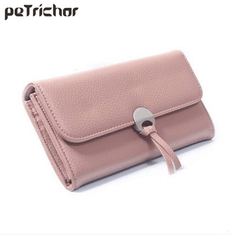 2017 New Design Women Long Wallets Brand Purse Clutch Wallet Female Card Holder Ladies PU Leather Girls Bags frico pa2515e12