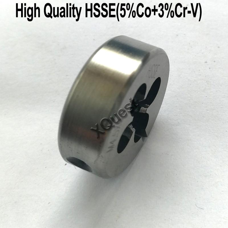 XQuest High Quality HSSE Round Split Dies M2 M2.2 M2.3 M2.5 M2.6 Fine Thread Cutting Adjustable Die M3 M3.5 M4 M4.5 M5 M5.5 M6