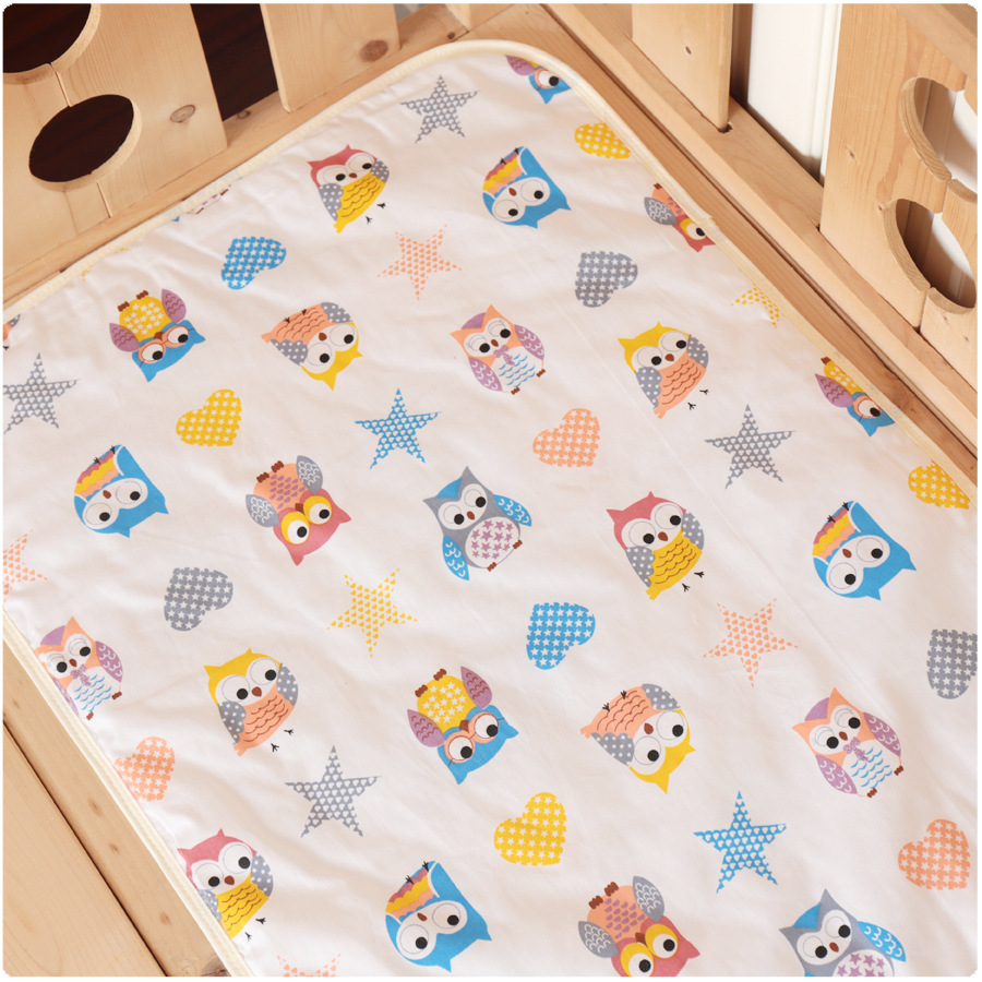50*70cm Baby Bassinet Mattress Thicken Quilted Waterproof Crib Mattress Baby Cartoon Kawaii Colchitas Para Bebe Baby Lounger