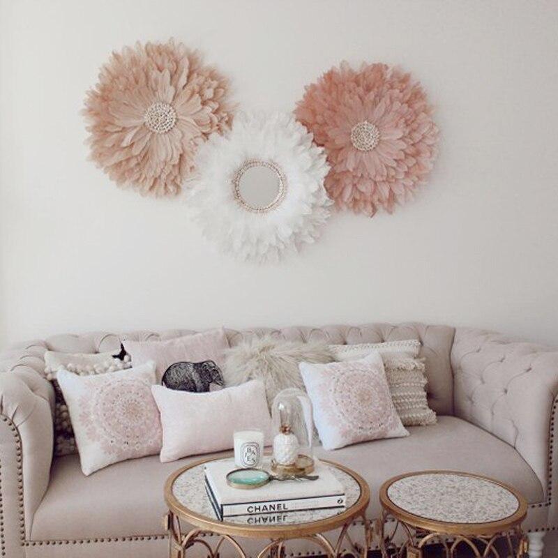 Free Shipping 1pcs lot Handmade Customized Shell Feather Hanging Crafts Natural Shell Beach Wedding Decor Sofa