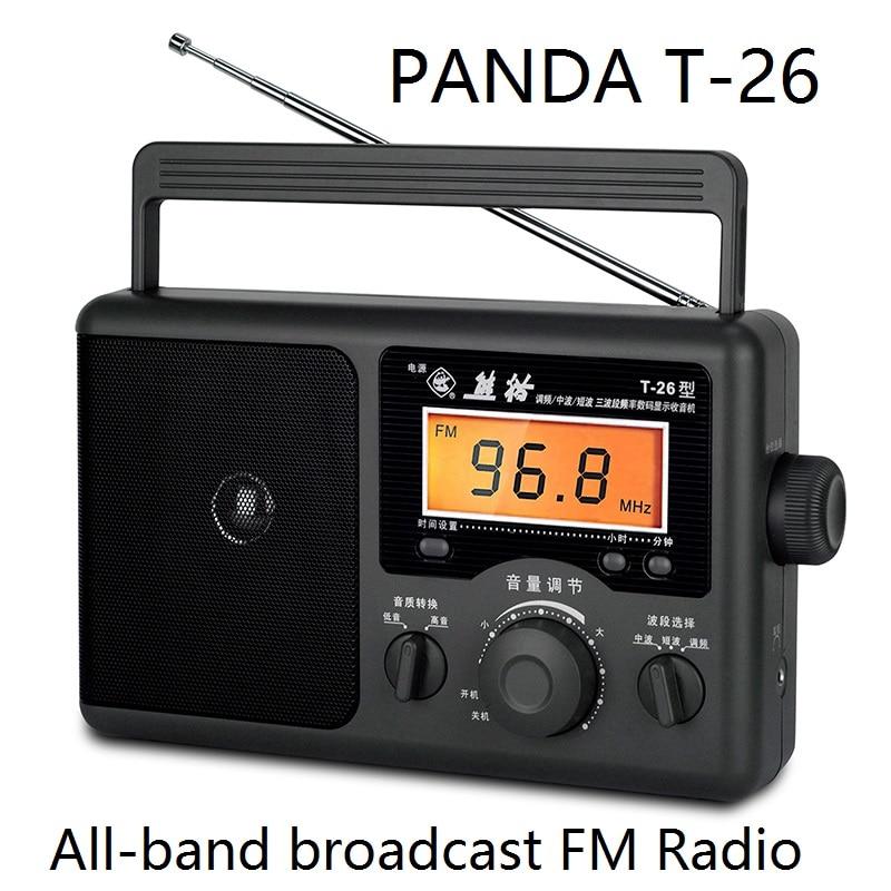 PANDA T-26 Radio All band Desktop FM radio portable The old man type semiconductor