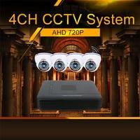Hiseeu IP Camera DVR System Kit AHD 720P 4 Channel CCTV DVR HVR NVR 3 In