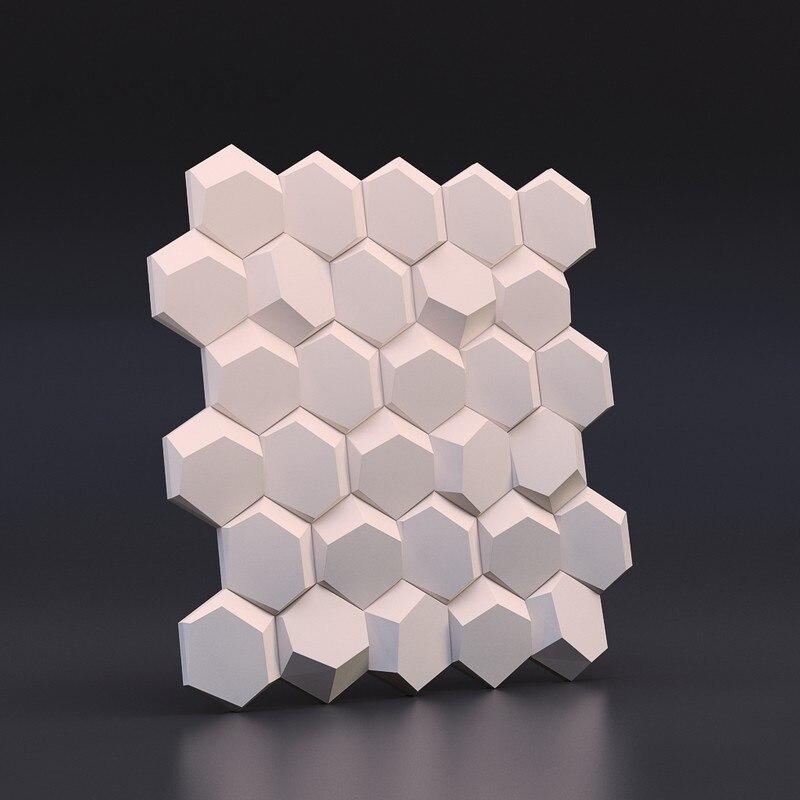 Géométrique carrelage mural mourir silicone brique de béton moules en nid d'abeille conception moule en silicone pour Plâtre 3D Panneaux Muraux Décoratifs