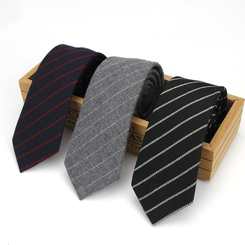 Wool Stripe Men's Tie Wedding Groomsmen Graduation Ceremony Men's Formal Party Tie