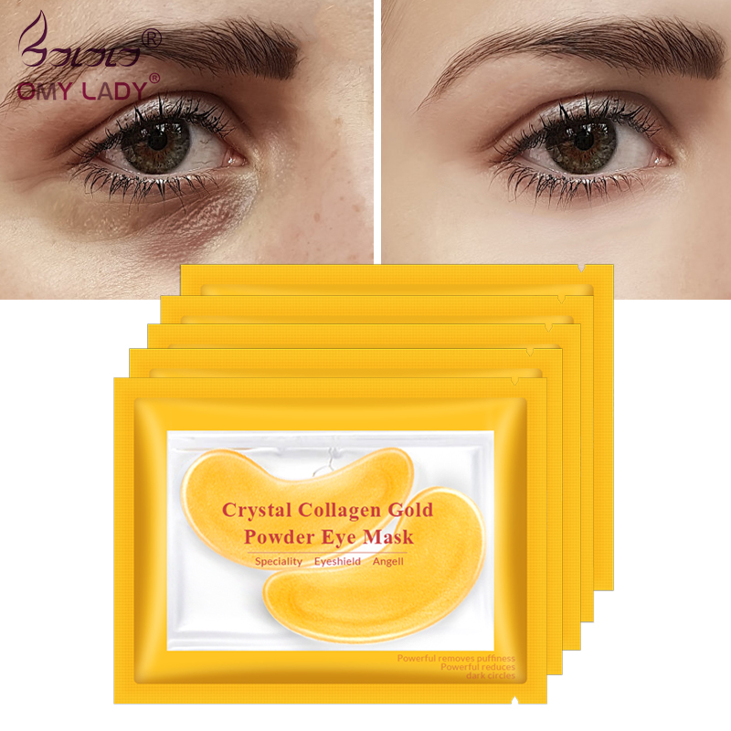 Gold Masks Crystal Collagen Eye Mask Anti-Wrinkle Eye Patches For The Eye Face Mask Remove Black Eye Care