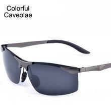 New 2017 Men Designer Sunglasses Casual UV400 Fashion Man Sun Glasses Driving Polarized Gold Glasses Male