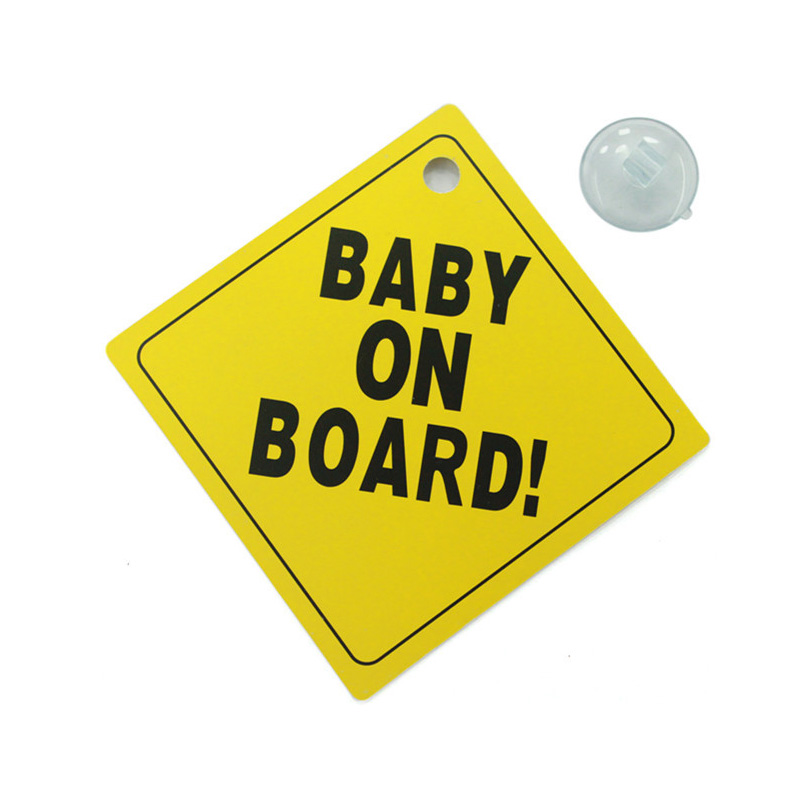 12.9cmx12.9cm Baby On Board Car Sticker Warning Sign removable car sticker Automobiles Car-styling 2016 new arrival cute car sticker baby in car sticker cartoon lovely decals for baby on board car decoration for volvo ford etc