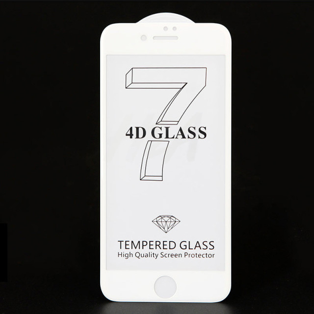 H&A 4D Curved Tempered Glass For iPhone 7 8 6 6s Plus Full Cover Screen Protector For iPhone 6 6s 7 8 Plus Protective Glass Film