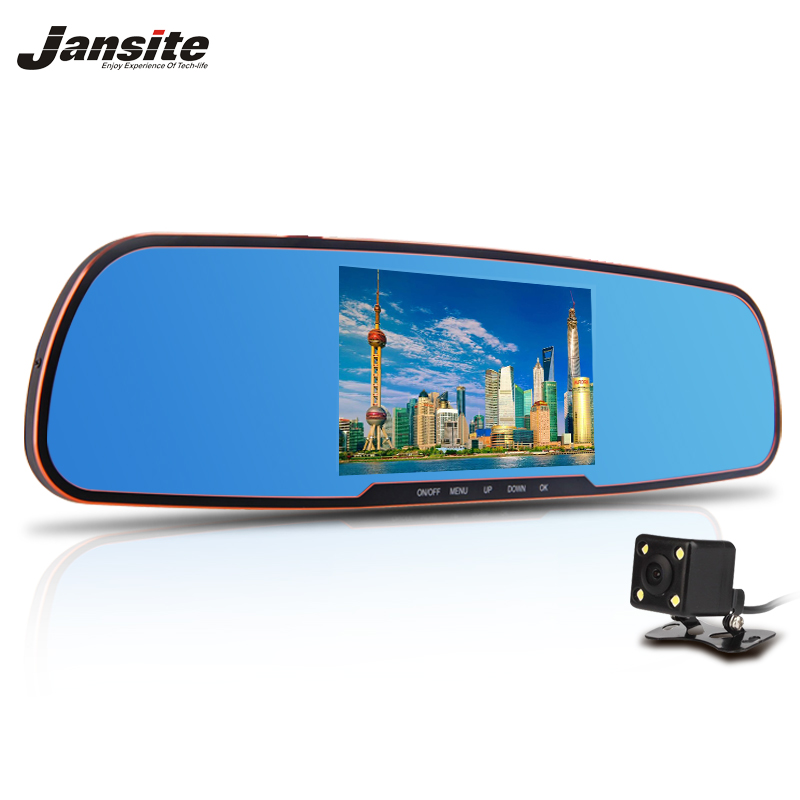 "2017 Newest 5.0"" Car Camera Review Mirror Dvr With LDWS ADAS Detector Digital Video Recorder Dual Lens FHD1080P car dvrs Dashcam"