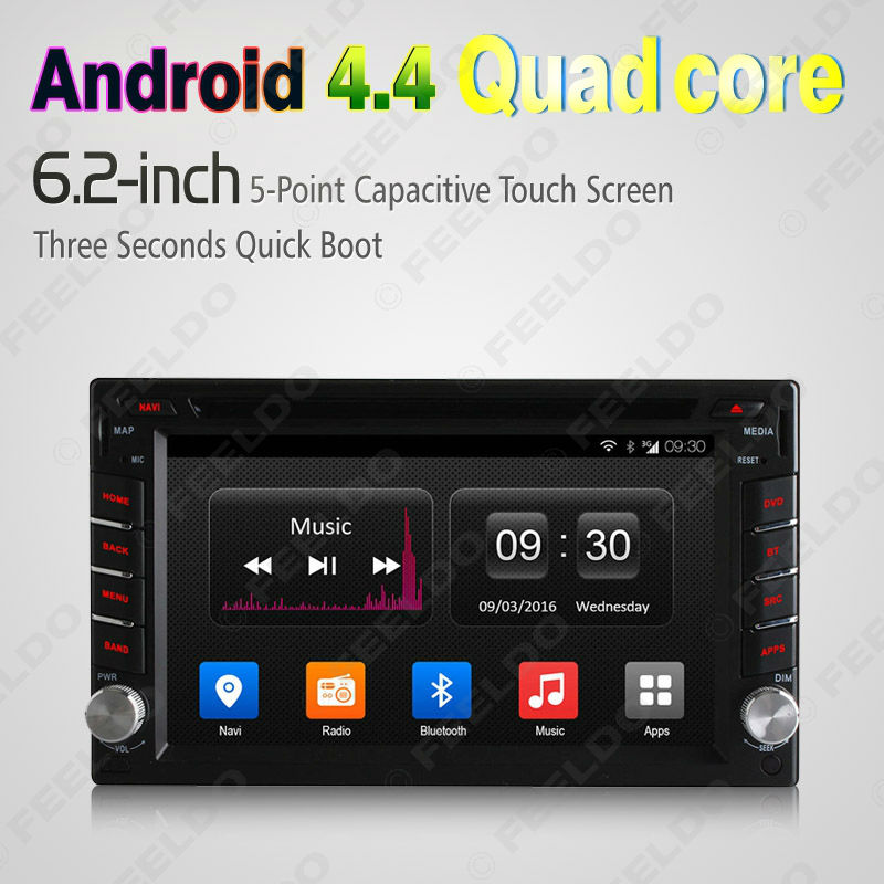 LEEWA 6.2inch Universal 2DIN Android 4.4.4 Quad Core Car DVD Player With  GPS Navi Radio For Nissan Hyundai  CA2420 a3b09c579195