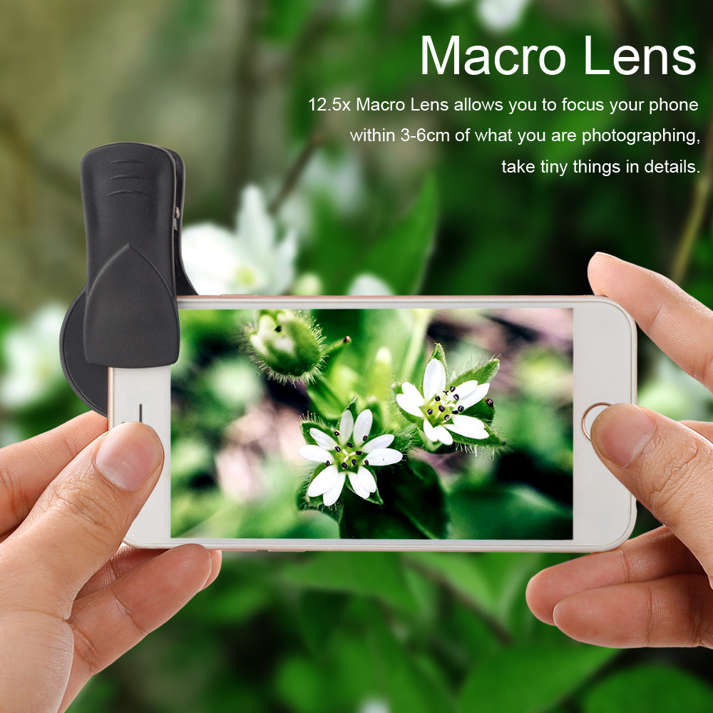 APEXEL 2in1 Professional HD Phone Camera Lens For iPhone 8 7 6S Plus Xiaomi Samsung LG 3