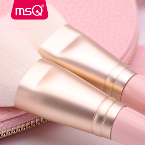 Image 5 - MSQ 12pcs MakeUp Brushes Set Powder Blush Eyeshadow pincel maquiagem Make up Brush Kits Cosmetic Tools With Pink PU Leather  Bag