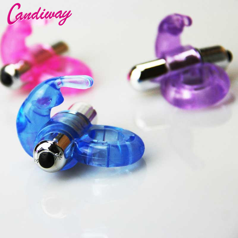 Mini Rabbit Cock Ring Vibrating Powerful Vibrator Delay Ejaculation Penis Ring Adult Sex Toys For Men Clit Vibrate For Couples