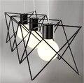 Metall lampe design lampe anhänger beleuchtung eisen retro vintage anhänger lichter bar Einfache Linie design Nordic stil