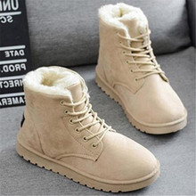 LAIDILANGTU New Classic Women Winter Boots Suede Ankle Snow Boots Female Warm Fur Plush Insole High Quality Botas Mujer Lace-Up women boots high quality classic lace up women winter diamond thick soled boots ankle snow boots female warm fur plush insole