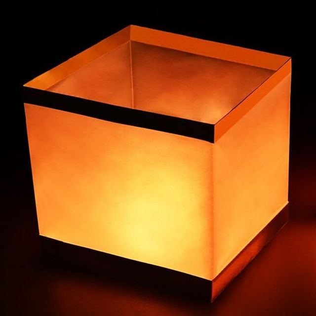 US $0 84 24% OFF|Floating Wishing Lantern Water Square Paper Lanterns  Candle for Party Birthday Wedding Decoration-in Holiday Lighting from  Lights &