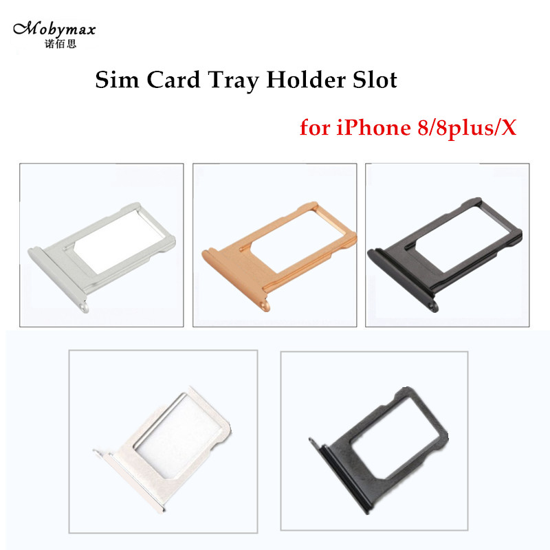 Nano SIM Card Tray Holder For Apple iPhone X 8 8 plus Sim Tray Holder Repair Slot Replacement for iPhone 8 Card Adapter Tools
