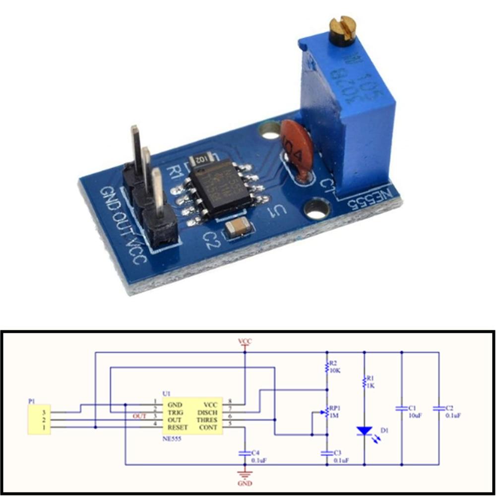 Onboard NE555 Modul Pulse Generator Einstellbare Frequenz 5V-12V für