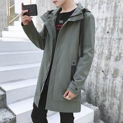 Осенняя новая мужская куртка, пальто, Длинная ветровка, мужская мода, плащ для отдыха