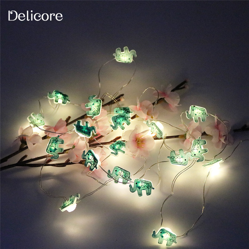 Delicore 2m 20 Leds Elephant Battery Operate Copper Led