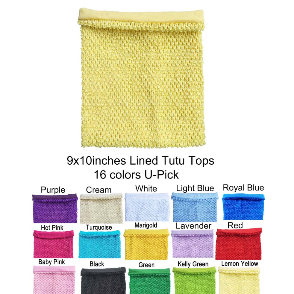 9x10inches Lined Crochet Tutu Tube Tops Crochet Tops For Tutu Dresses 1pc