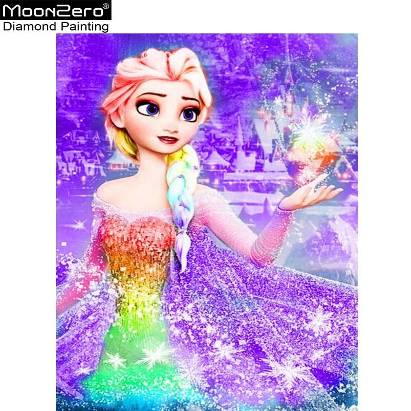 Hot Deals Full 5D Diy Daimond Painting Cross Stitch Frozen Anna Elsa 3D Diamond Painting Rhinestone Painting Embroidery Diamante in Diamond Painting Cross Stitch from Home Garden