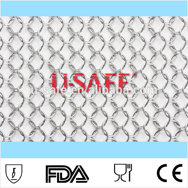 94cm width 100cm length 4mm chain mail stainless steel decorative mesh custom tailor metal fabic