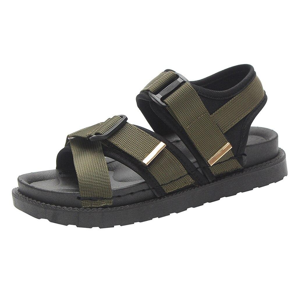 67861c954f63 Femme Marche Ouvert D'été Chaussures Bout Shopping 2019 Mode Dames De  Sandales Nouvelle Noir vert ...