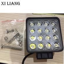 2pcs/ lot 48W led work light 4 Inch  12V  24V  Car  Lamp spot /flood Beam for car truck 4x4 ATV tractor Night Driving Light