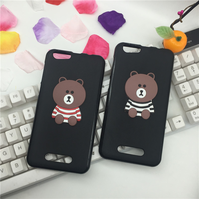 Pop Silicone Phone Cases for Cubot Note S Cartoon Animal Brown Bear Thick Soft Black for Cubot Note S TPU Smartphone Back Cover ...