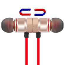 Sports Bluetooth Headphones Metal Magnetic Headsets Stereo Music Earbuds with Mic for Mobile Phone Wireless Bluetooth Earphones