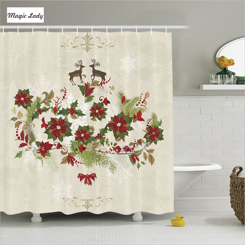 Shower Curtain Elegant Bathroom Accessories Christmas ...