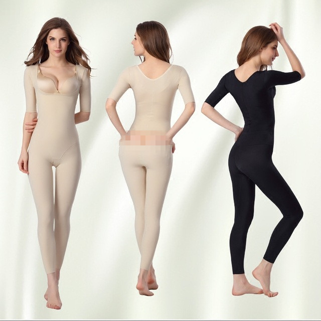 4931cf7901 Seamless Open Butt Women Waist Control Bodysuit Full Body Shaper Slimming  Underwear Long sleeve Waist Corsets