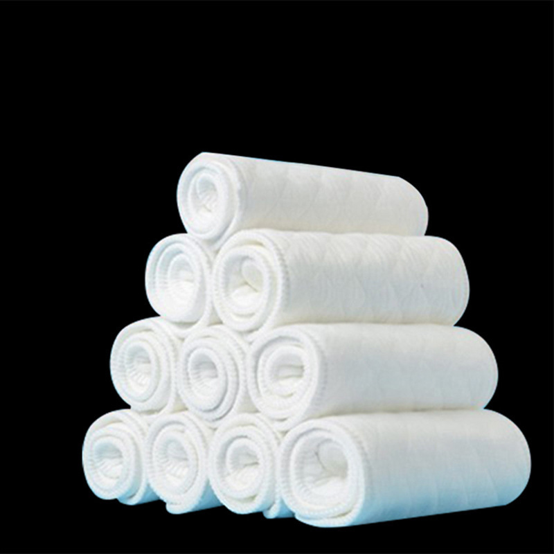 6Pcs Cotton Newborn Diaper Baby Cotton Ecological Diaper Absorbent Non-Folding