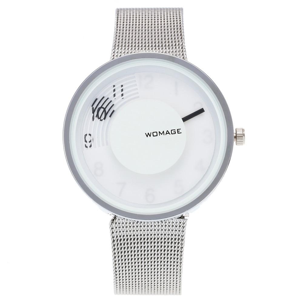 Creative Men Women Watch Stylish Unique Modern Quartz Watches Turntable Women Men Special Design Trendy Wrist Watch Relogio Saat