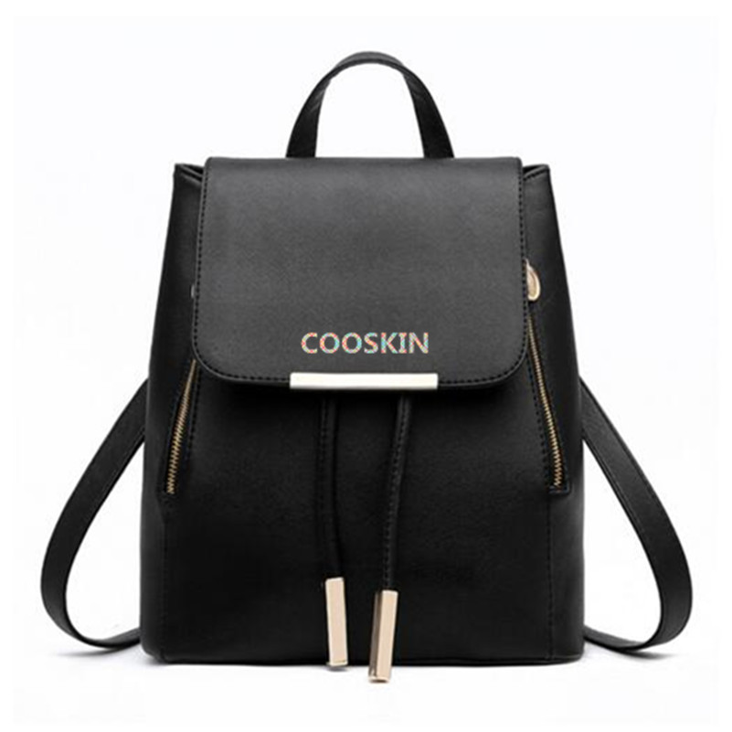 COOSKIN Lightweight Soft and lively lady Genuine Leather LOCKME backpack Women's favorite backpack free shipping сумка cooskin kangaroo 88724 38 ol